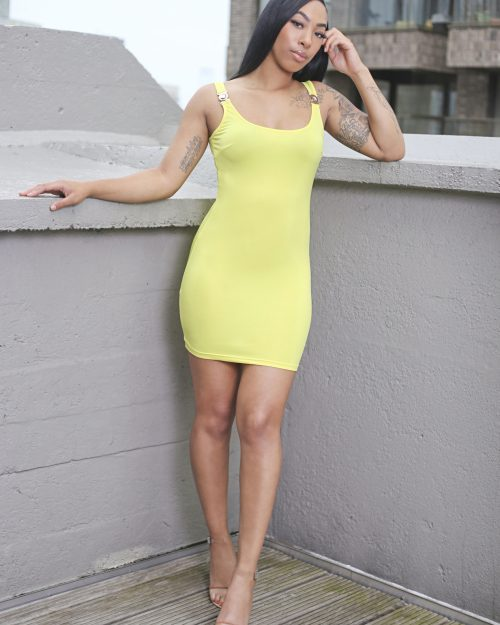Unapologetic dress yellow