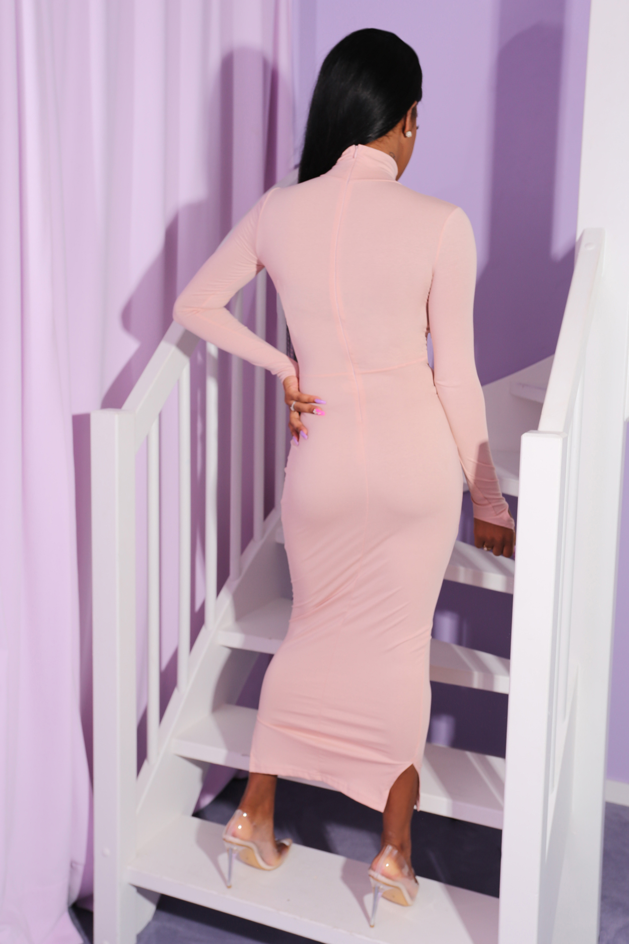 Cotton candy dress nude