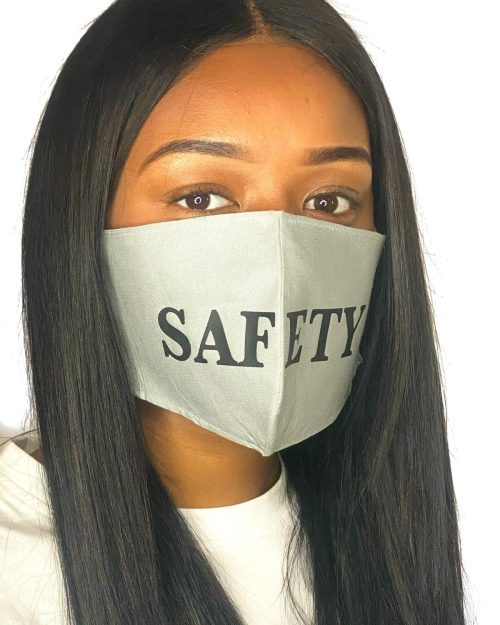 SAFETY  Grey SIZE L facemask