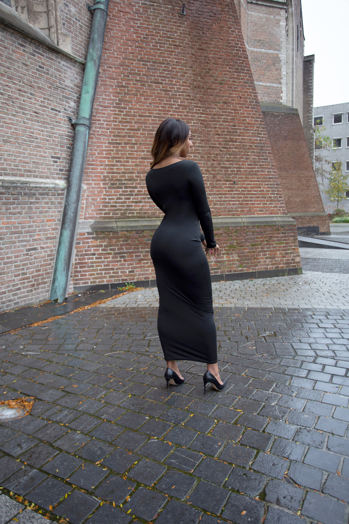 where is my ring maxi dress black