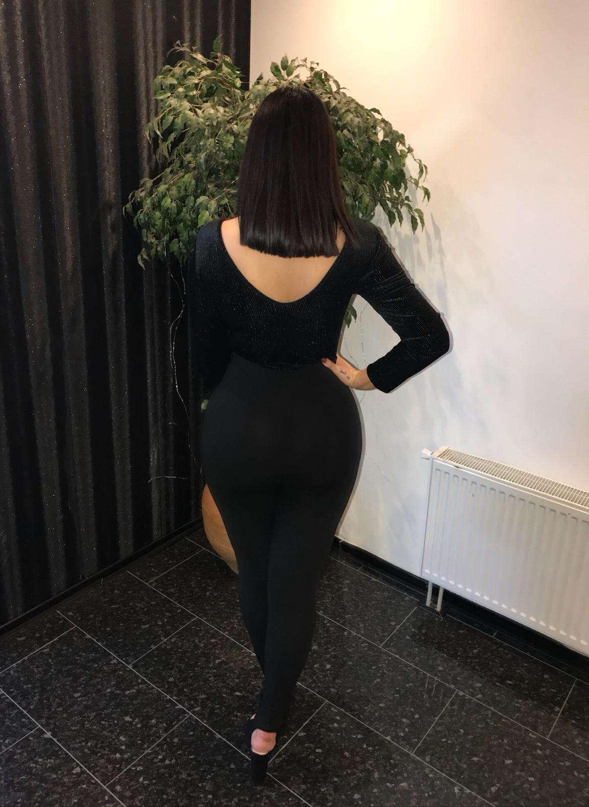 Velvet glitter black bodysuit SALE