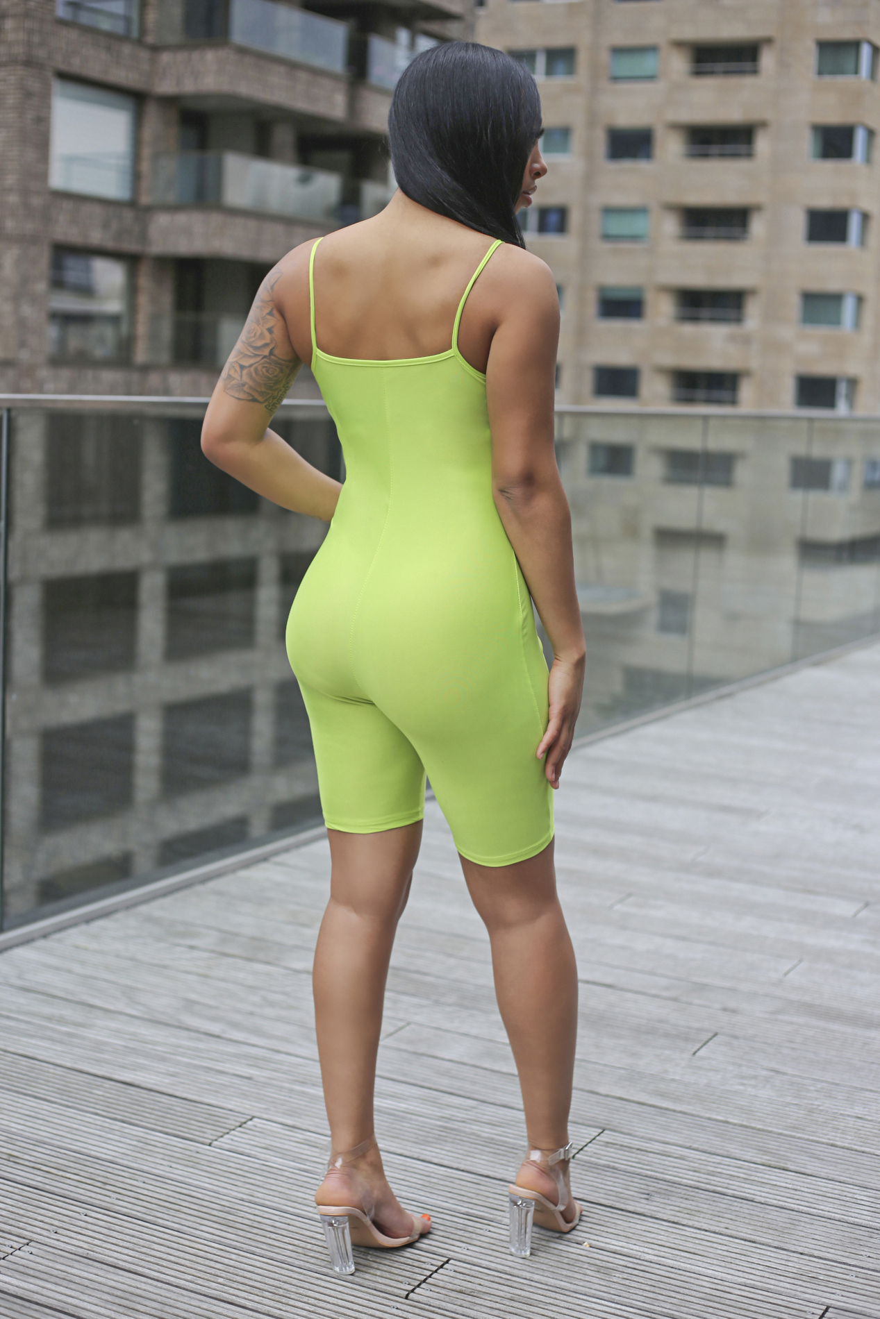 Neon vibes jumpsuit green