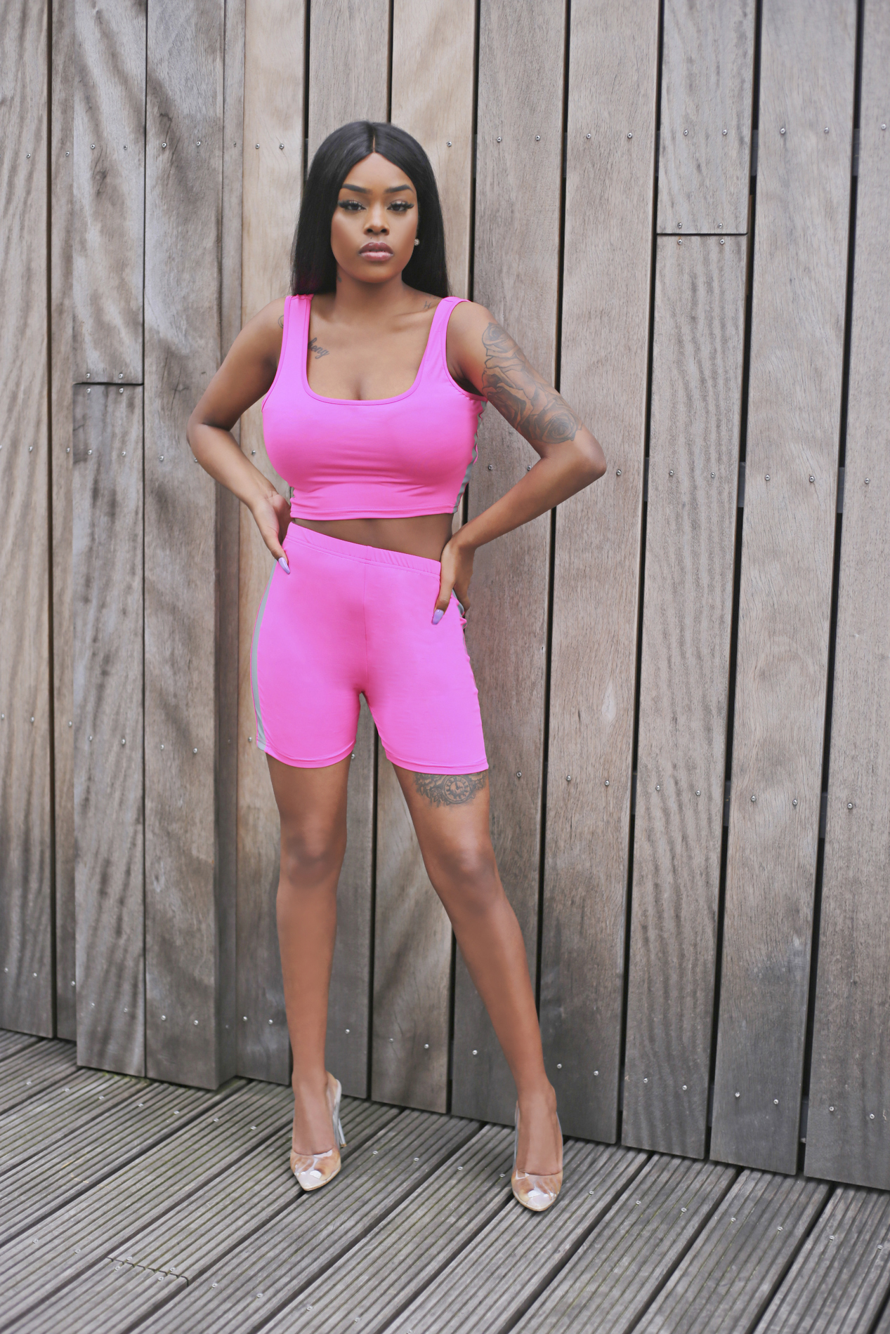 Trophy of the game biker short pink