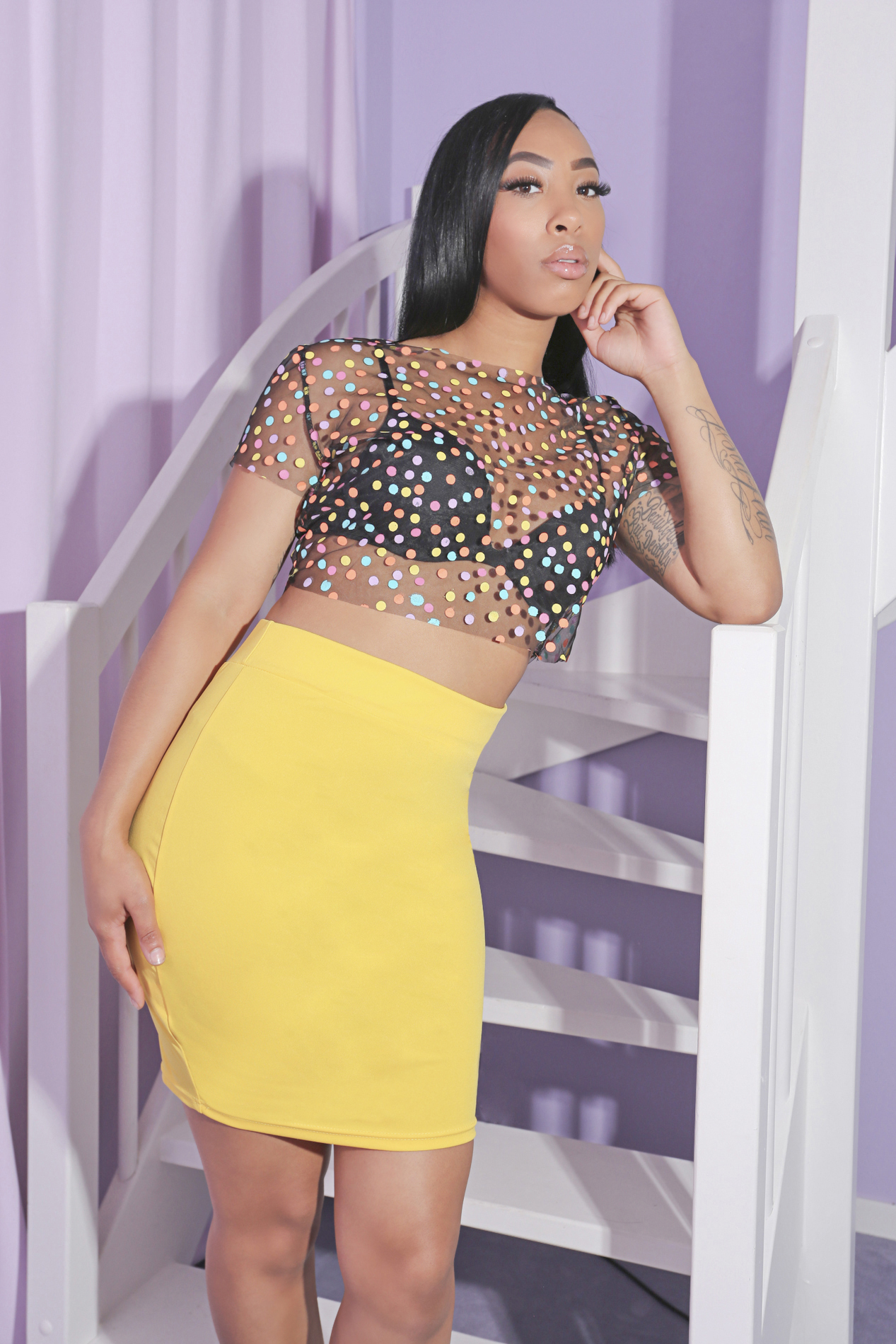 Just for tonight yellow skirt SALE