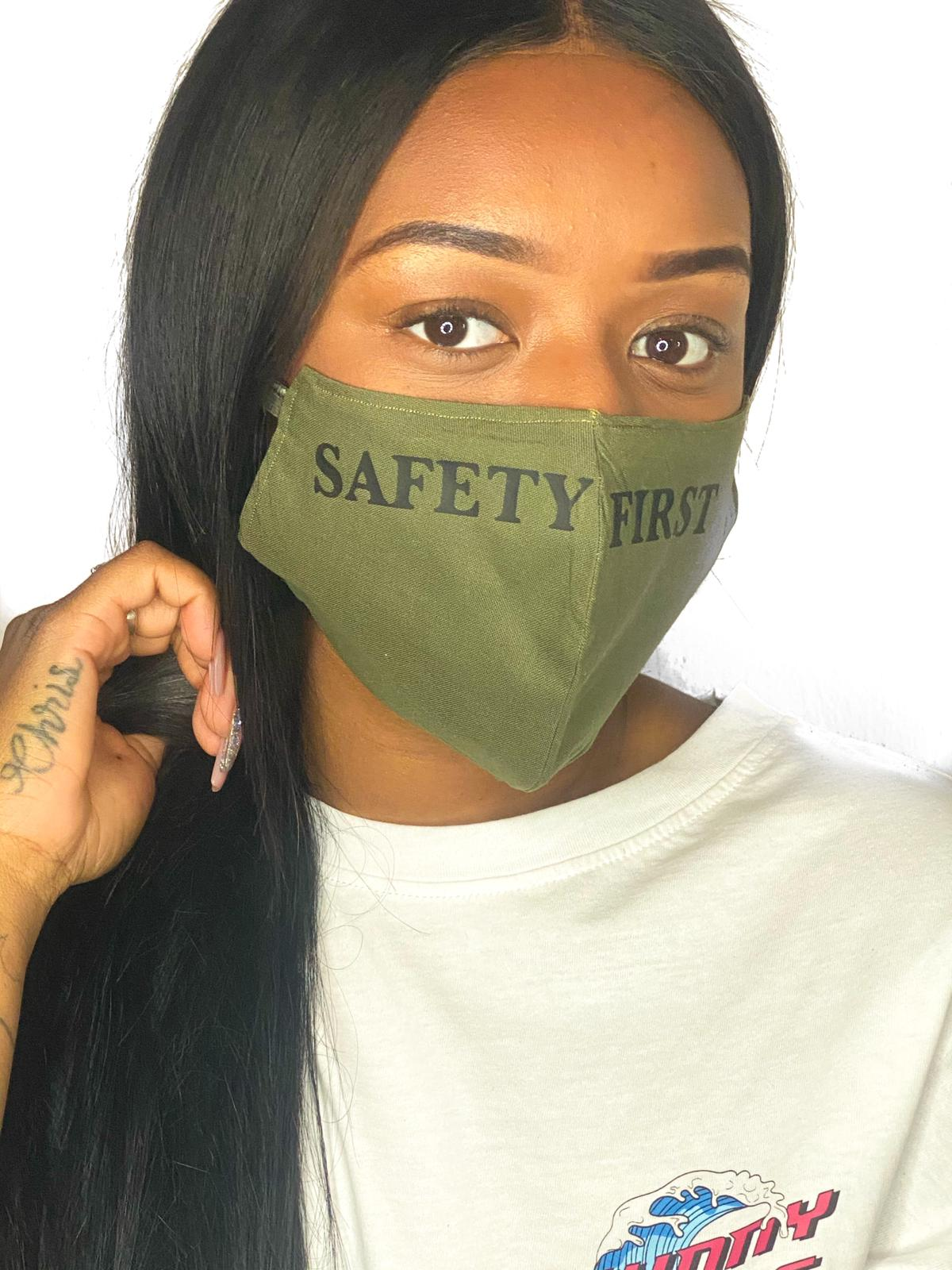 SAFETY FIRST Green SIZE M Facemask