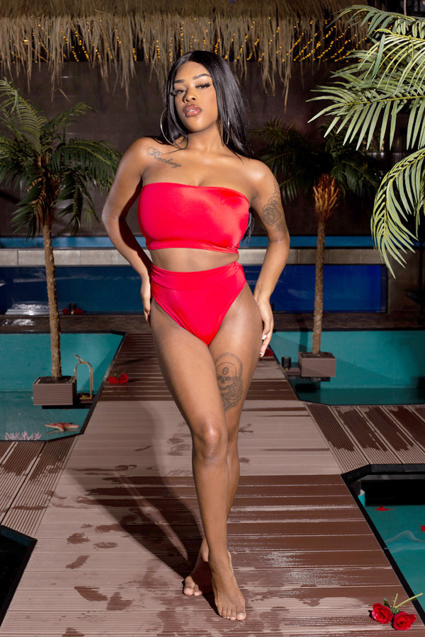 Less is more bottom bikini Red