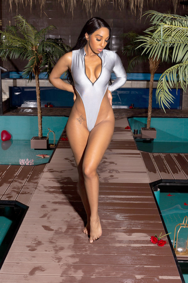 Grey Sexy swimsuit