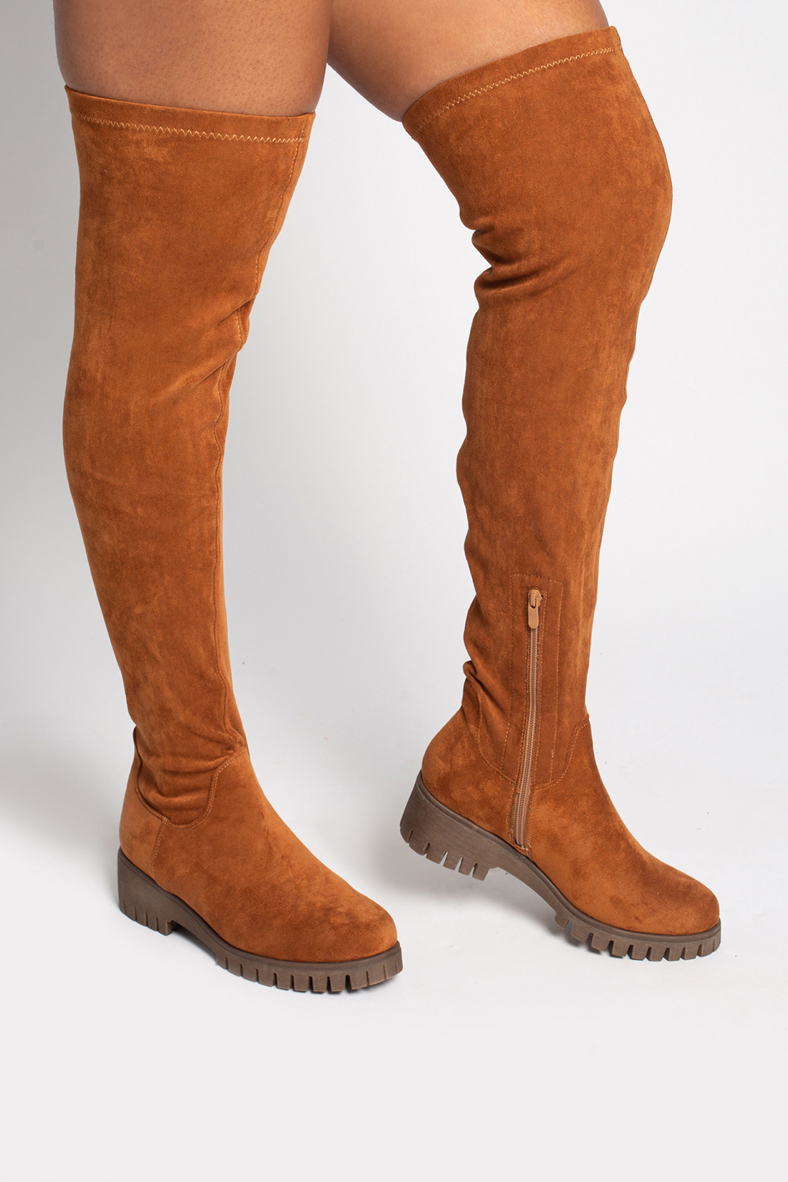 Over the knee boot brown