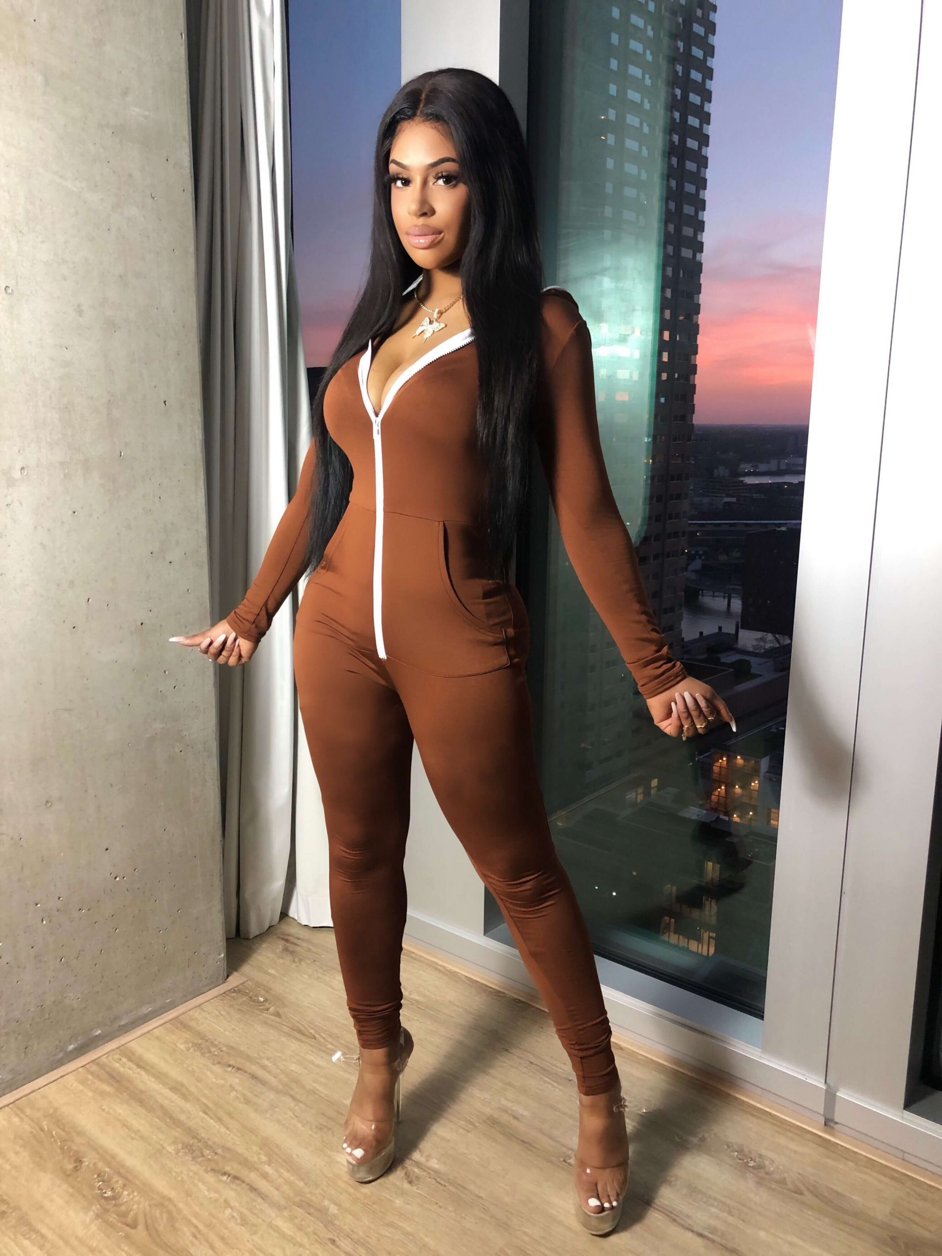 Love in the air Jumpsuit Brown