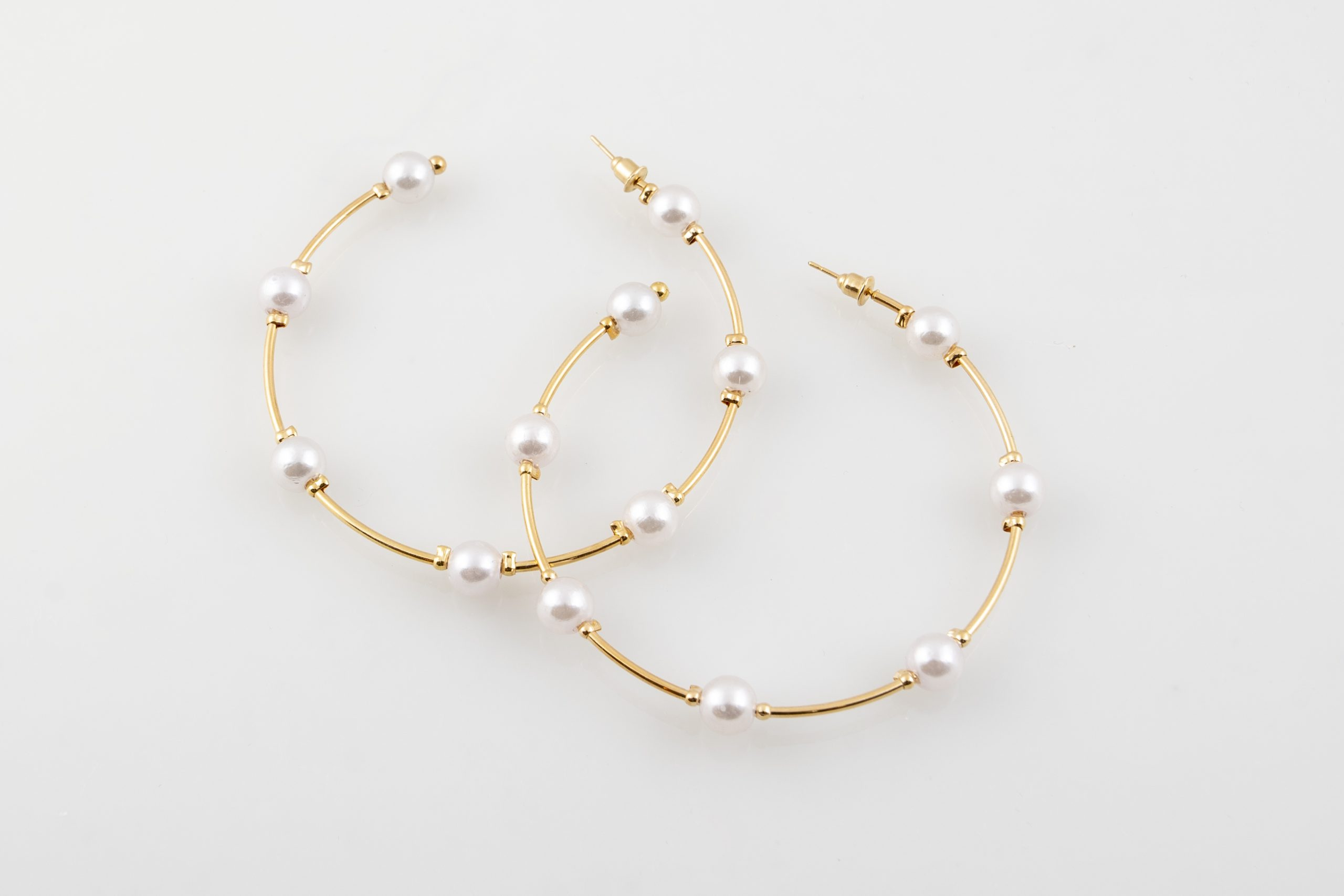 Pearl Gold Medium hoops