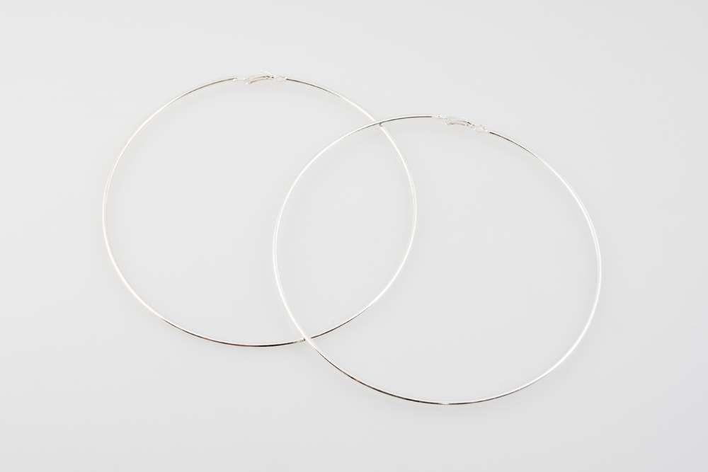 Silver XLarge hoops