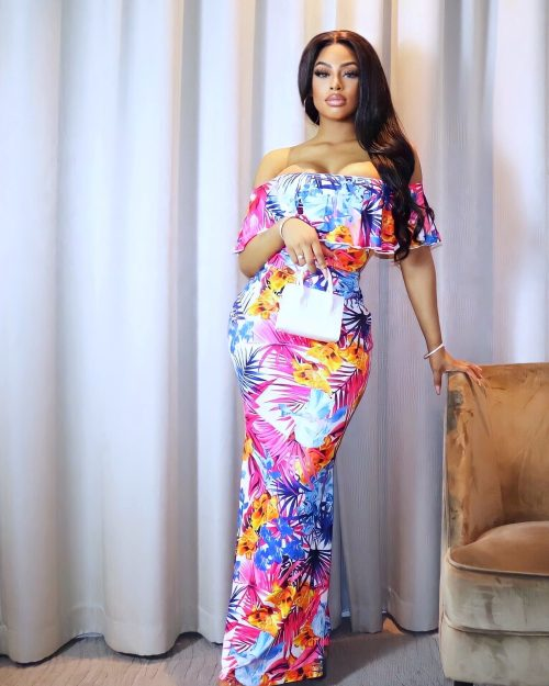 Palm trees and Wine dress