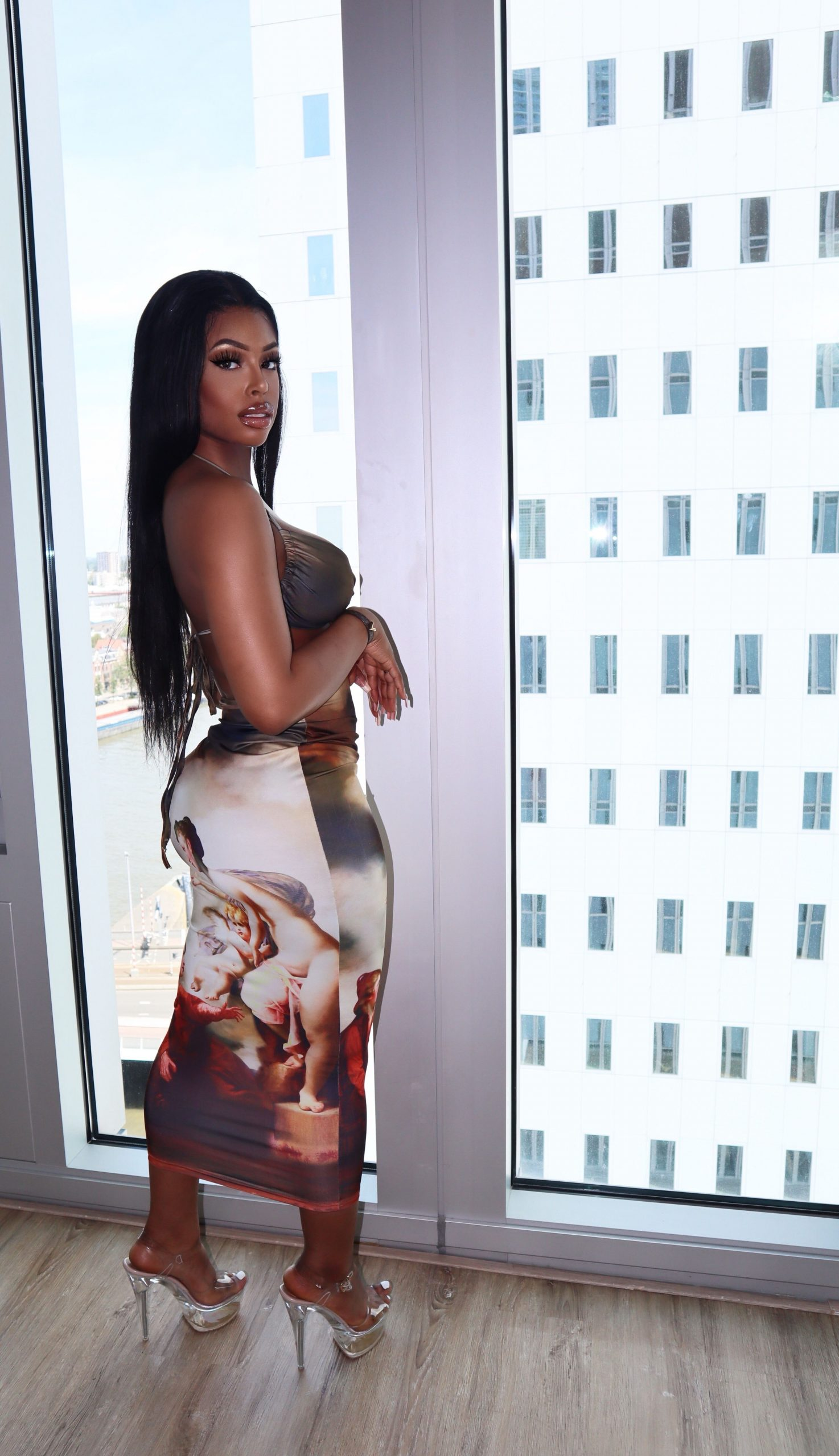 Palm Beach jesus dress Midi Brown